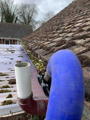 gutter cleaning before cambridge