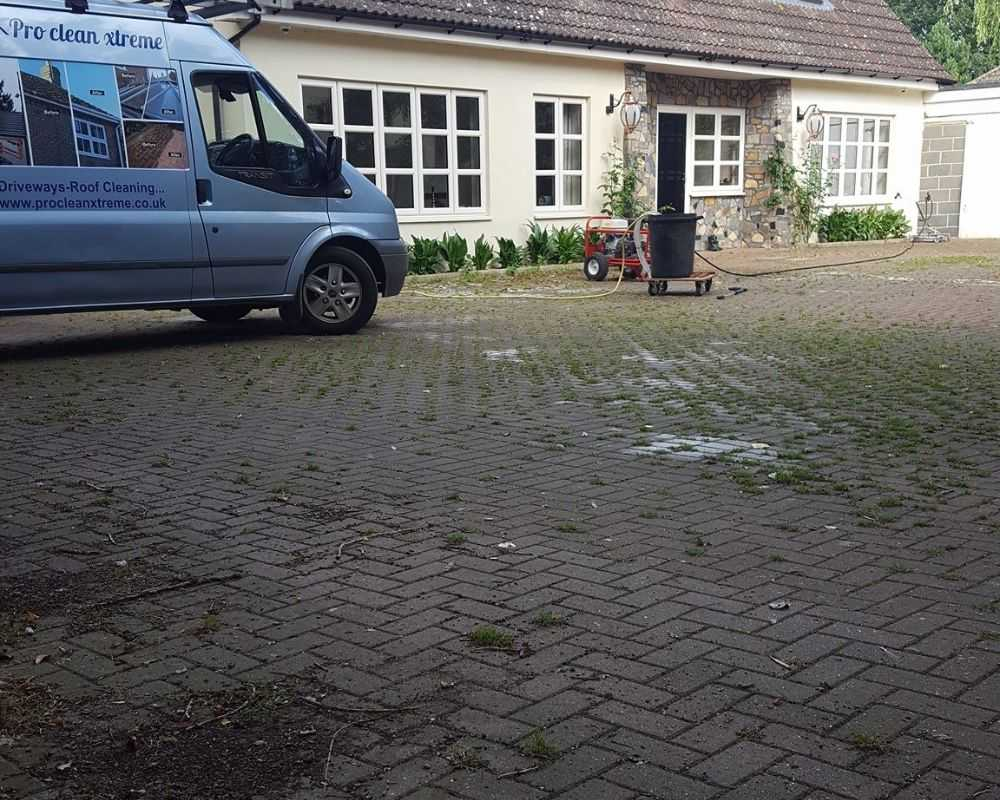 pressure washing before bury st edmunds